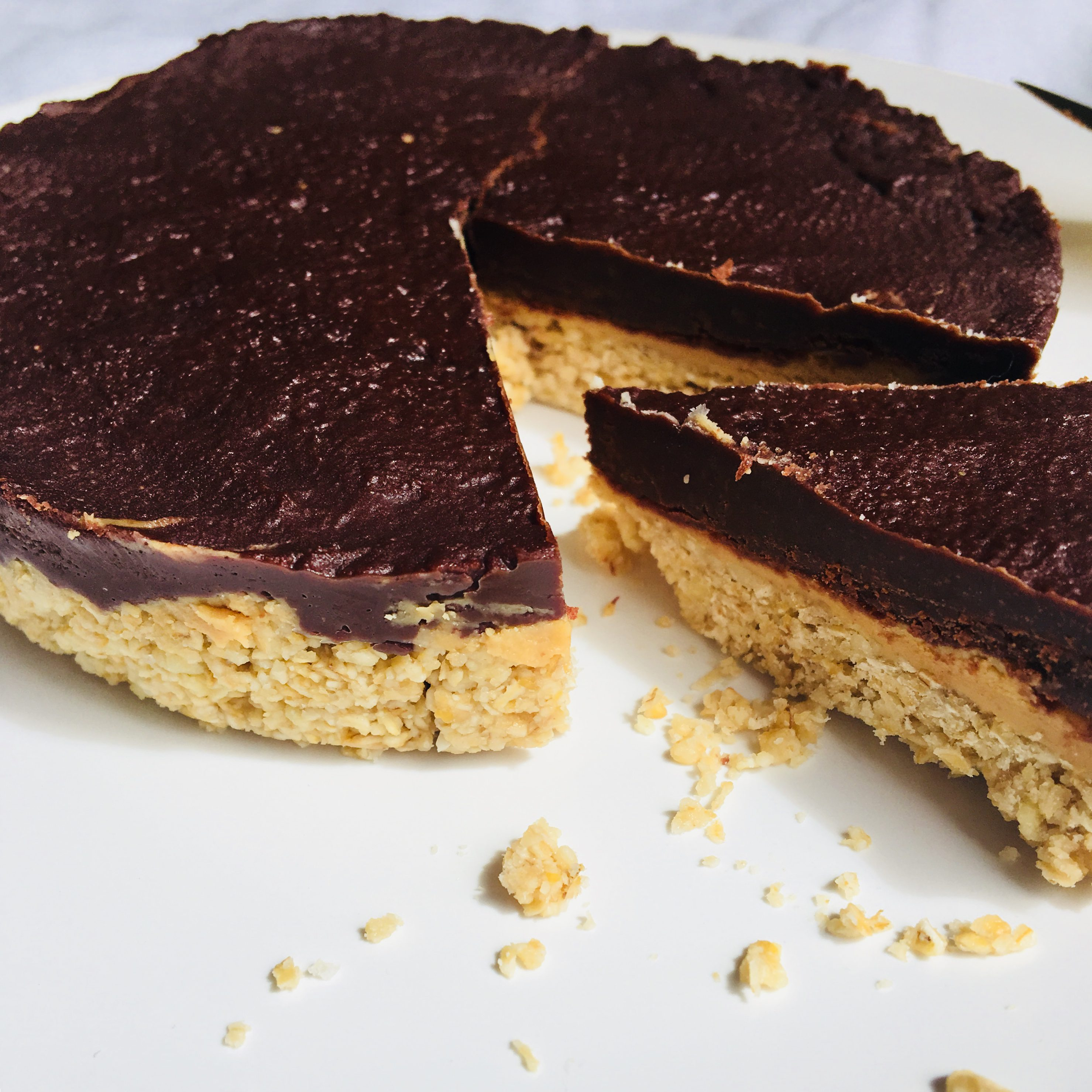 tarte au chocolat et au beurre de cacahuètes