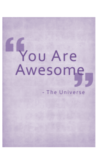 You are awesome (carnet)
